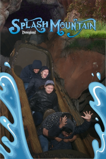 Riding Splash Mountain during our tour