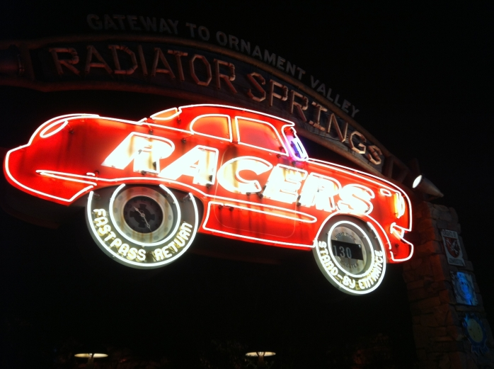 2012-06-16 - Radiator Springs Racers Sign