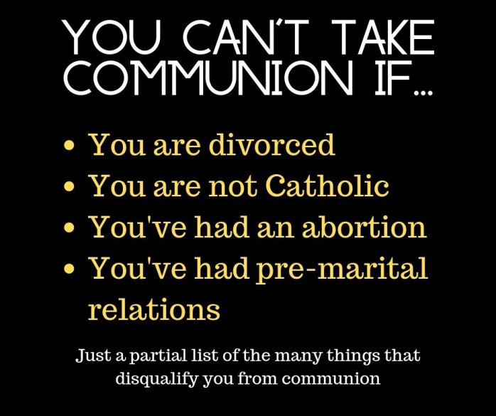 You can't take communion